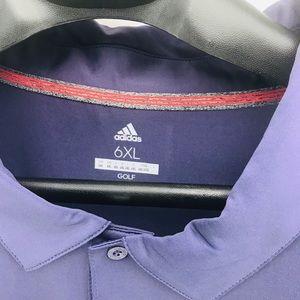 Adidas Destination XL Men's Purple 6XL Polo